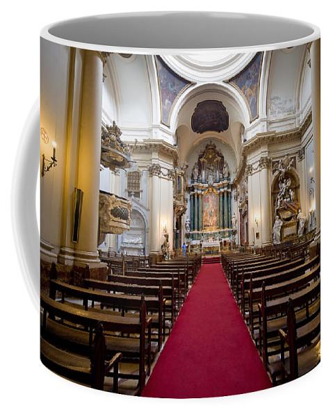 Madrid Coffee Mug featuring the photograph Church Of Santa Barbara Interior In Madrid by Artur Bogacki