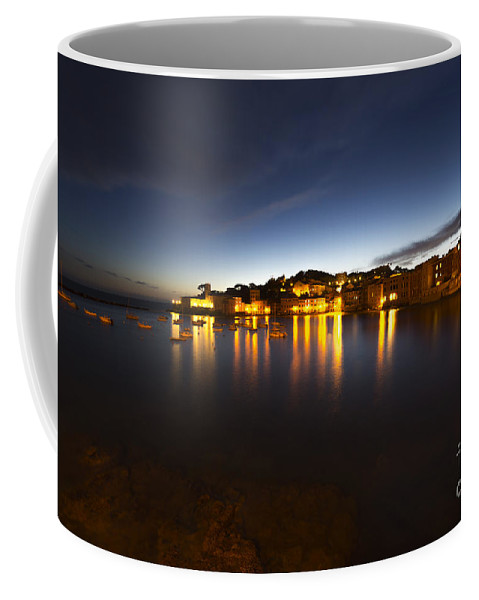 Village Coffee Mug featuring the photograph Cinque Terre At Night by Mats Silvan
