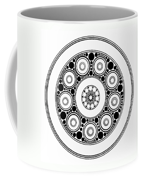Art Coffee Mug featuring the painting Circle Motif 138 by John F Metcalf