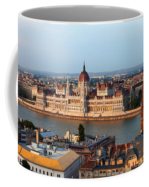 Architectural Coffee Mug featuring the photograph City Of Budapest Cityscape by Artur Bogacki