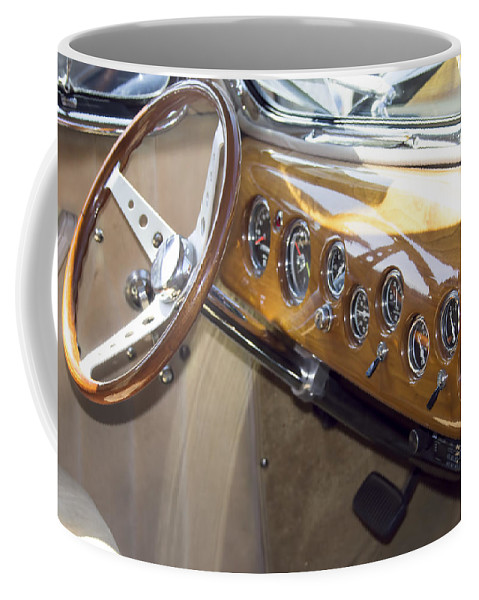 Coffee Mug featuring the photograph Classic Car Interior by Cathy Anderson