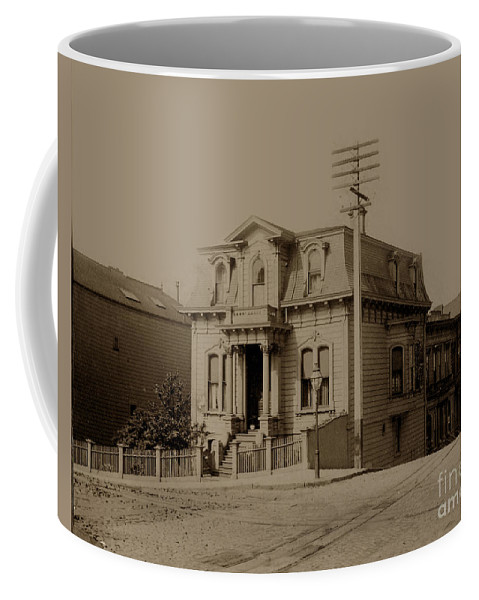 Clay Coffee Mug featuring the photograph Clay And Hyde Street's San Francisco Built In 1874 Burned In The 1906 Fire by California Views Archives Mr Pat Hathaway Archives