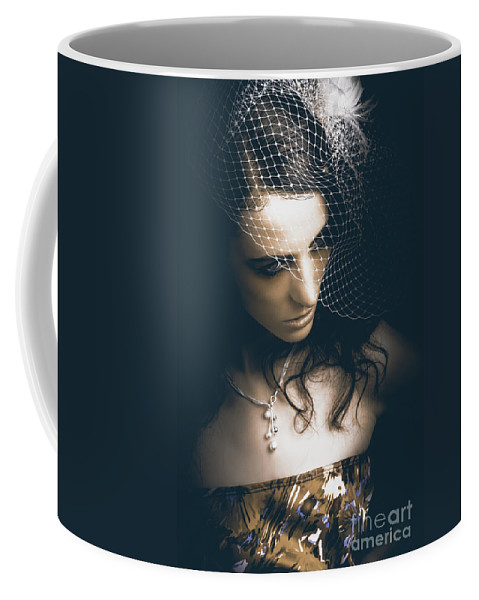 Accessory Coffee Mug featuring the photograph Close Up Portrait Of A Beautiful Vintage Bride by Jorgo Photography - Wall Art Gallery