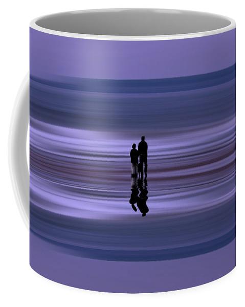 Coastal Abstract Coffee Mug featuring the photograph Coastal Abstract by David Pringle