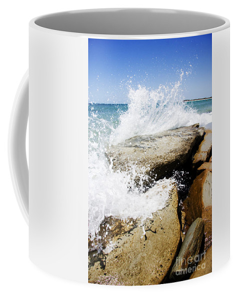 Beach Coffee Mug featuring the photograph Coastal Collision by Jorgo Photography - Wall Art Gallery