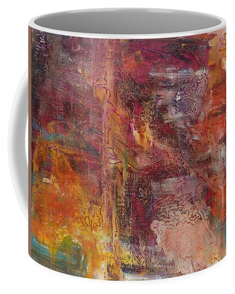 Derek Kaplan Art Coffee Mug featuring the painting Coding Of Life by Derek Kaplan
