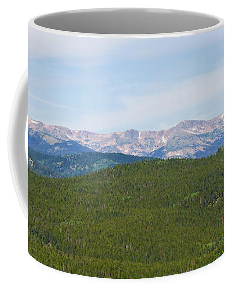 Rocky Mountains Coffee Mug featuring the photograph Colorado Continental Divide 5 Part Panorama 1 by James BO Insogna