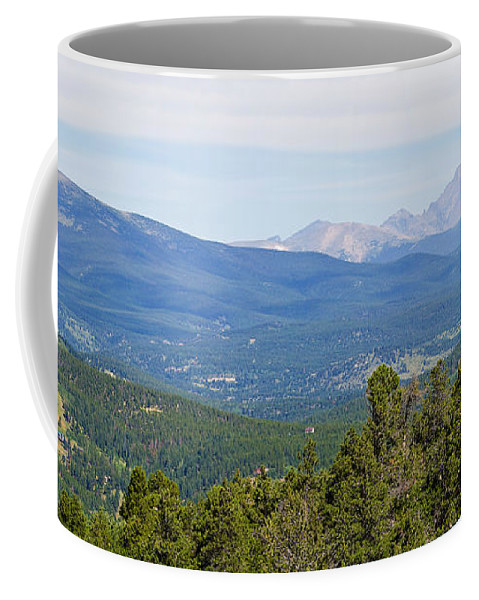 Rocky Mountains Coffee Mug featuring the photograph Colorado Continental Divide 5 Part Panorama 5 by James BO Insogna