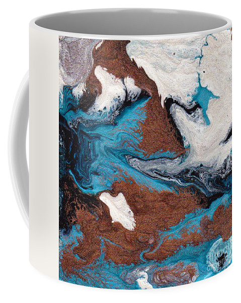 Abstract Coffee Mug featuring the painting Cosmic Blend One by M West