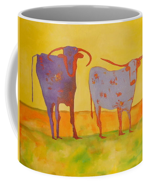 Cow Coffee Mug featuring the painting Cowboy Boots by Lord Frederick Lyle Morris