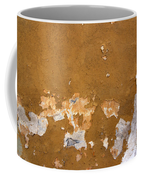 Plaster Coffee Mug featuring the photograph Cracked Stucco - Grunge Background by Michal Boubin