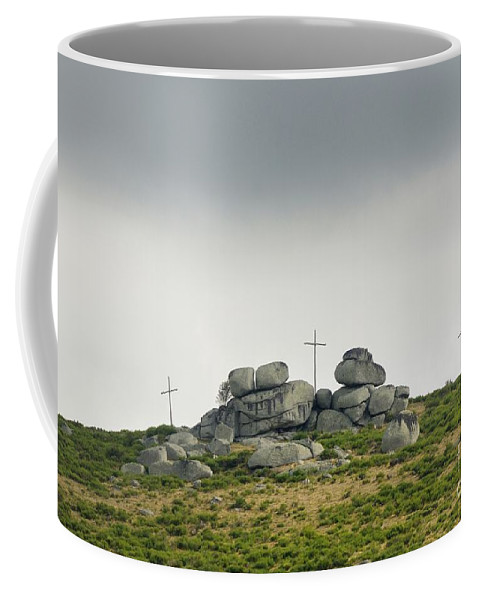 Belief Coffee Mug featuring the photograph Cross by Bernard Jaubert