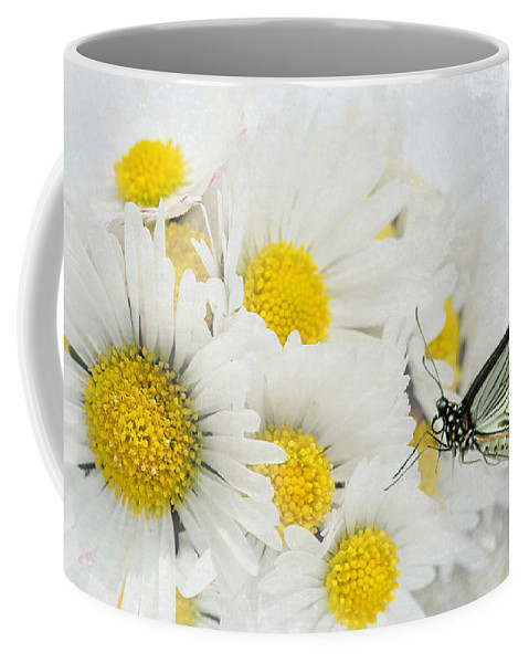 Butterfly Coffee Mug featuring the photograph Daisy by Heike Hultsch