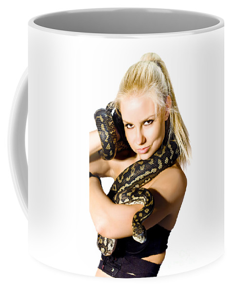 Act Coffee Mug featuring the photograph Danger Woman by Jorgo Photography - Wall Art Gallery