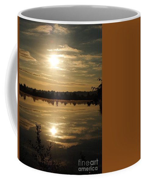 Sunrise Coffee Mug featuring the photograph De Groote Peel 5 by Brothers Beerens