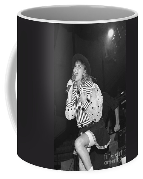 Singer Coffee Mug featuring the photograph Debbie Gibson by Concert Photos