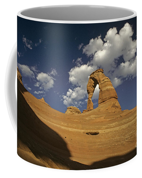 Landscape Coffee Mug featuring the photograph Delicate Arch by Jim Corwin
