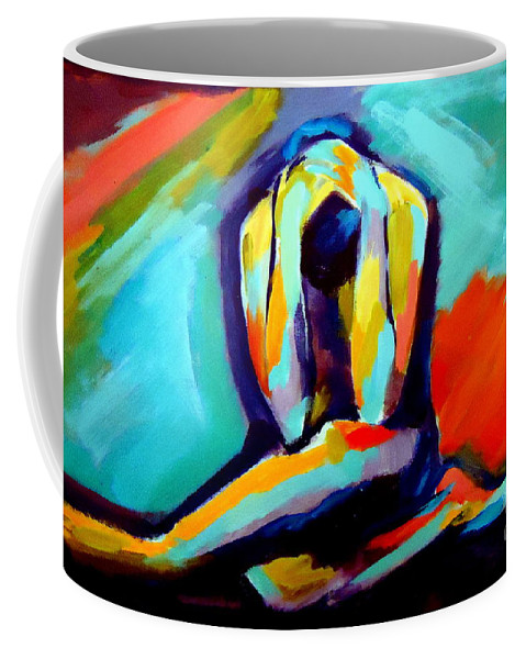 Abstract Nudes Coffee Mug featuring the painting Despair by Helena Wierzbicki