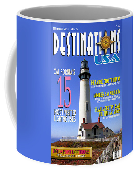 For Entry To The Faux Magazine Cover Contest Coffee Mug featuring the photograph Destinations Usa Faux Magazine Cover by Mike Nellums