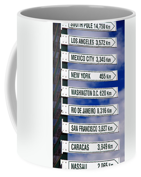 Sign Coffee Mug featuring the photograph Direction Signs by Valentino Visentini