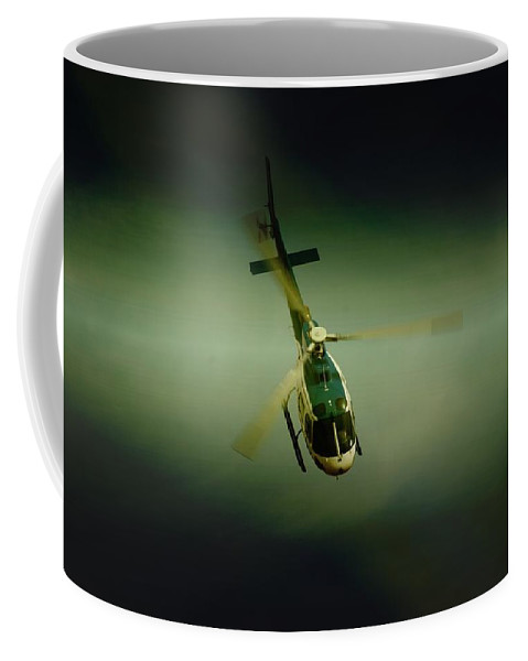 Eurocopter As350 B3 Ecureuil (squirrel) Coffee Mug featuring the photograph Diving by Paul Job