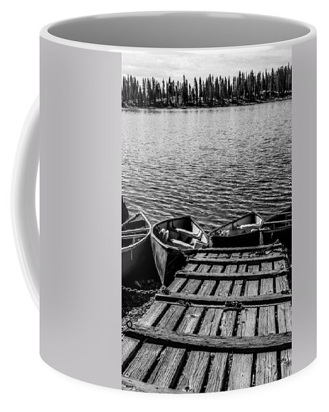 Dock Coffee Mug featuring the photograph Dock At Island Lake by Jeff Stoddart