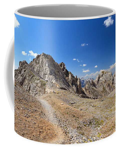 Alpine Coffee Mug featuring the photograph Dolomites - Costabella Ridge by Antonio Scarpi
