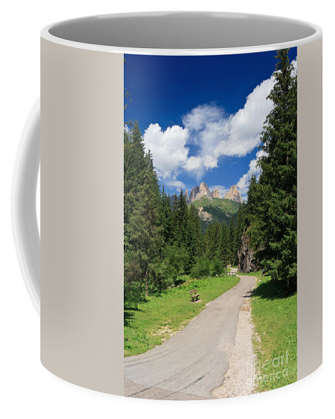 Alpine Coffee Mug featuring the photograph Dolomiti - Fassa Valley by Antonio Scarpi
