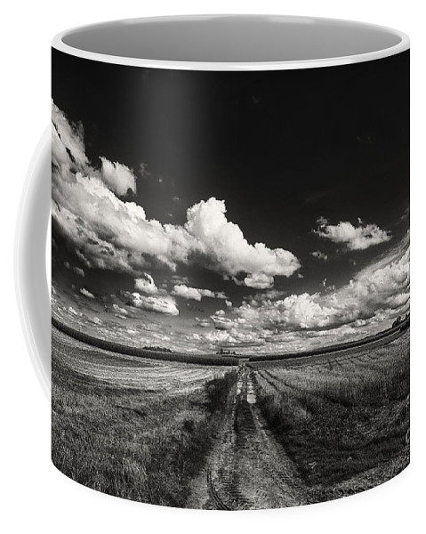 Blue Skies Landscape Coffee Mug featuring the photograph Drifting Clouds by Brothers Beerens