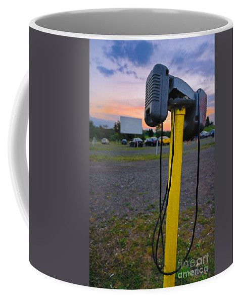 Audio Equipment Coffee Mug featuring the photograph Dusk At The Drive In Movie by Amy Cicconi