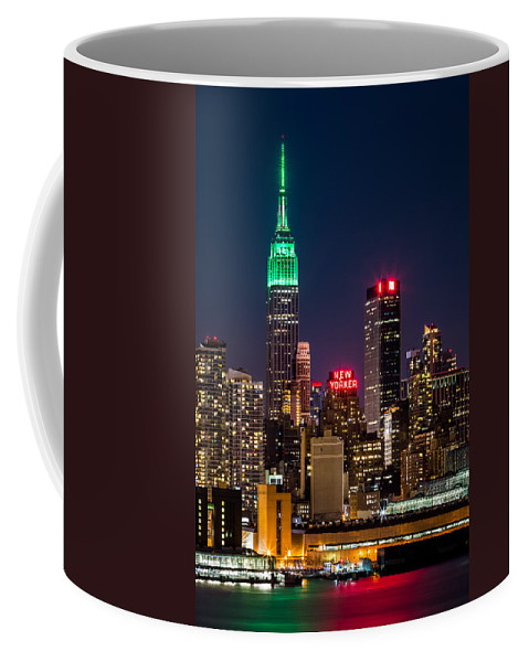Ireland Coffee Mug featuring the photograph Empire State Building On Saint Patrick's Day by Mihai Andritoiu