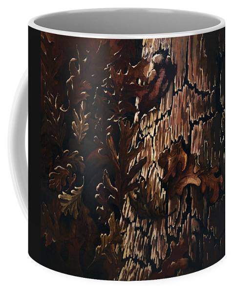 Abstract Coffee Mug featuring the painting Eruption by Rachel Christine Nowicki