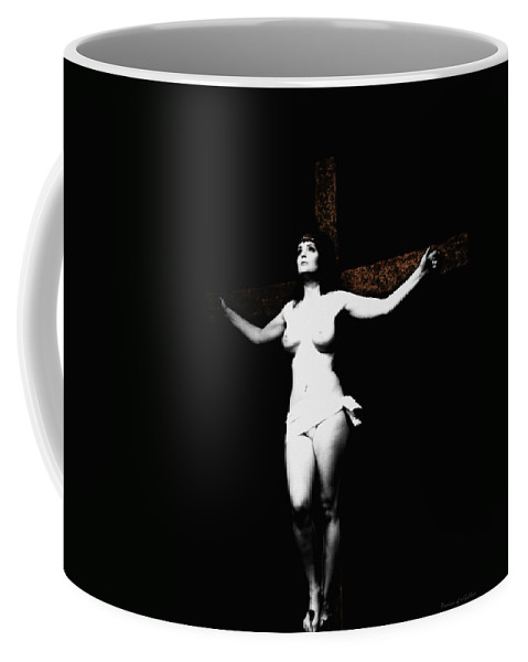 Crucifix Coffee Mug featuring the photograph Experimental Crucifix I by Ramon Martinez