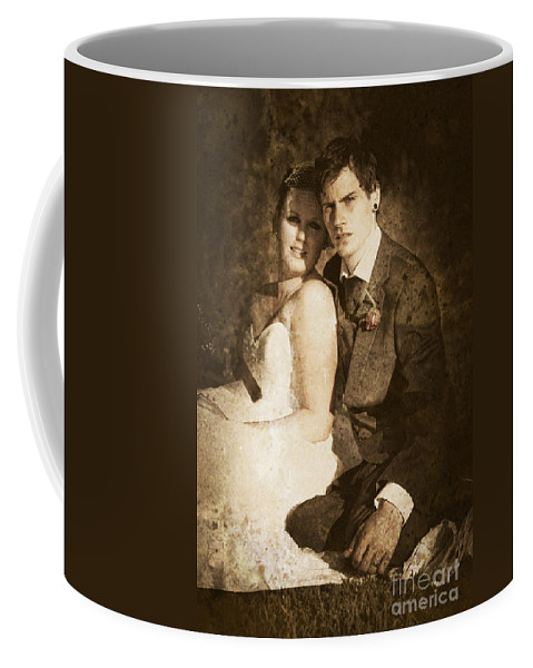 Caucasian Coffee Mug featuring the photograph Faded Vintage Wedding Photograph by Jorgo Photography - Wall Art Gallery
