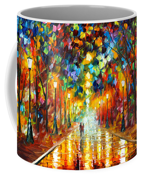 Farewell Coffee Mug featuring the painting Farewell To Anger by Leonid Afremov