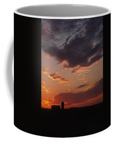 Rural Coffee Mug featuring the photograph Farmer's Sunrise by Skip Willits