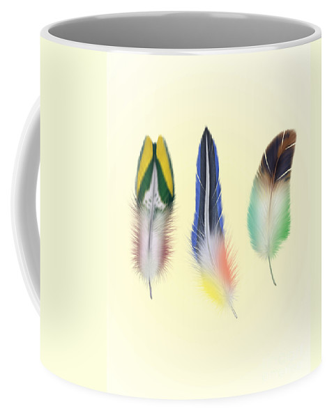 Feathers Coffee Mug featuring the digital art Feathers by Mark Ashkenazi
