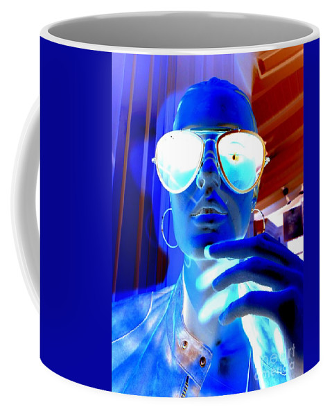Mannequin Coffee Mug featuring the digital art Feelin Blue by Ed Weidman