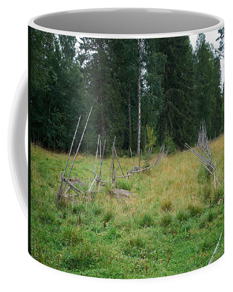 Finland Coffee Mug featuring the photograph Fence by Jouko Lehto