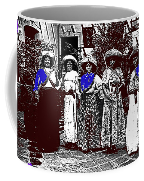 Five Female Revolutionary Soldiers Unknown Mexico Location Or Date Coffee Mug featuring the photograph Five Female Revolutionary Soldiers Unknown Mexico Location Or Date-2014 by David Lee Guss