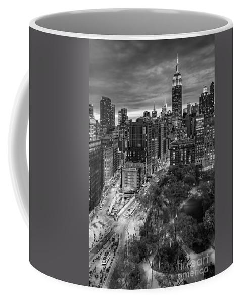 Flatiron District Coffee Mug featuring the photograph Flatiron District Birds Eye View by Susan Candelario