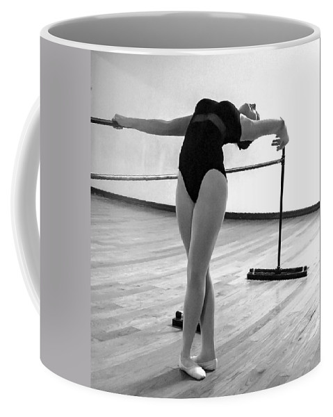 Ballet Dancer Coffee Mug featuring the photograph Flexibility Bw by Norman Johnson
