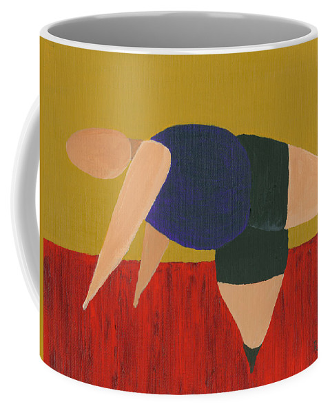 Figurative Coffee Mug featuring the painting Floor Dancer 3 by Darice Machel McGuire