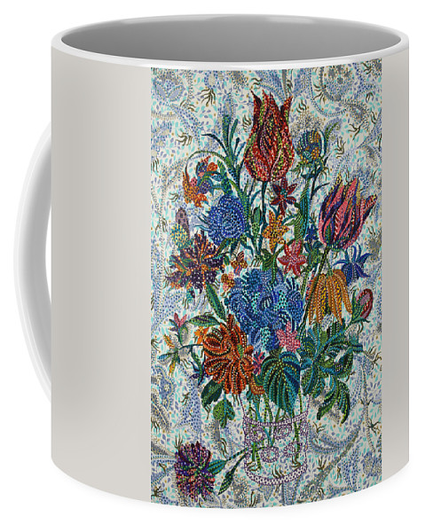 Floral Coffee Mug featuring the painting Floral Arrangement by Erika Pochybova
