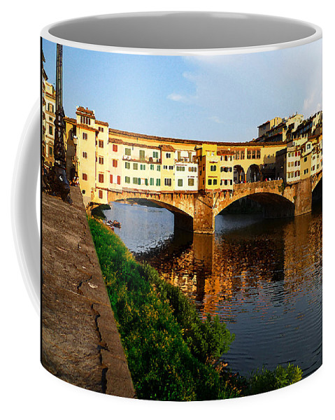Italy Coffee Mug featuring the photograph Florence Italy Ponte Vecchio by Irina Sztukowski