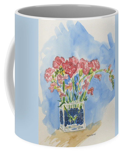 Flowers Coffee Mug featuring the painting Flowers In A Vase by Mary Ellen Mueller Legault