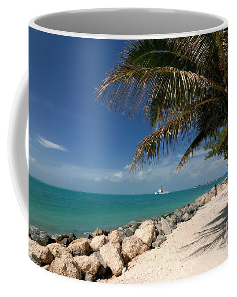 Beach Coffee Mug featuring the photograph Fort Zachary Taylor Beach by Amy Cicconi
