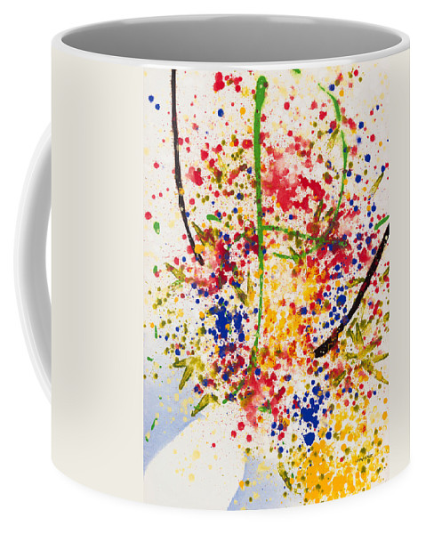 Colorchrome Scans Coffee Mug featuring the painting Freedom by Jerome Lawrence