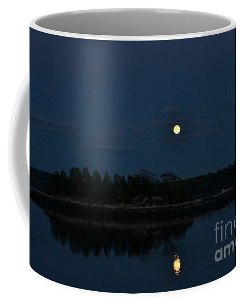 Coffee Mug featuring the photograph Full Moon Reflection by Susan Russo