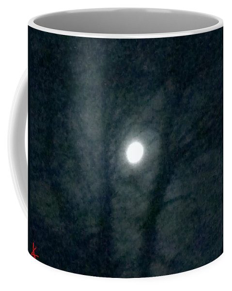 Colette Coffee Mug featuring the photograph Fullmoon In Between The Trees by Colette V Hera Guggenheim